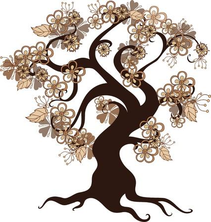 beautiful woodland: floral tree