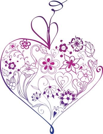 coraz�n floral