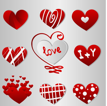 abstract heart: Valentine day hearts Illustration