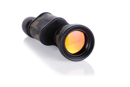 eyepiece: military colored monocular isolated on white background