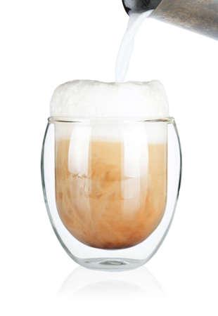 cappuchino: Cup of delicious cafe latte cappuchino Stock Photo