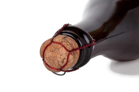 Champagne bottle neck isolated on white background Stock Photo - 17170761