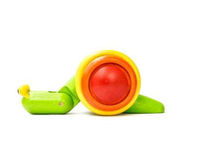 for children: Worm wooden toys for children Stock Photo