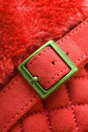 fur: Red belt, fur