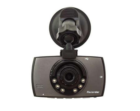 Car DVR Front camera car recorder on white background Standard-Bild
