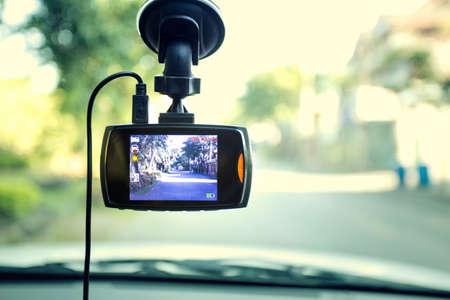 Registratore della macchina fotografica dell'automobile DVR anteriore Archivio Fotografico - 68866082