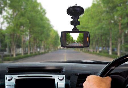 Car DVR Front camera car recorder Banque d'images