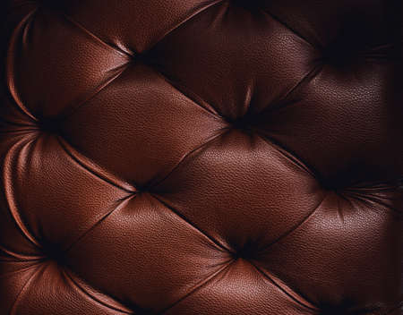 Luxurious Brown-tone leather texture furniture Stock Photo