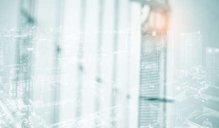 White blur abstract background BLUR OF MODERN BUILDING INTERIOR