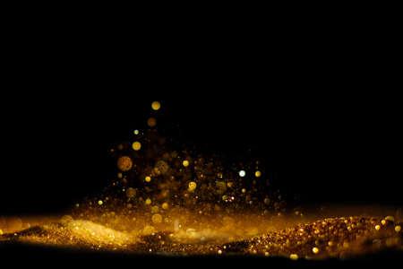 glitter vintage lights background. defocused Stok Fotoğraf