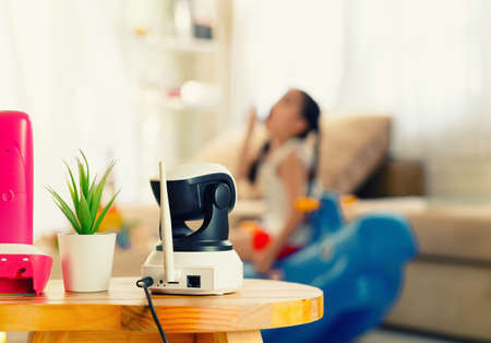 CCTV , ip camera Security monitoring  playing room for kids Imagens - 122399782