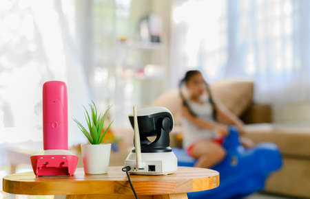 CCTV , ip camera Security monitoring  playing room for kids Imagens