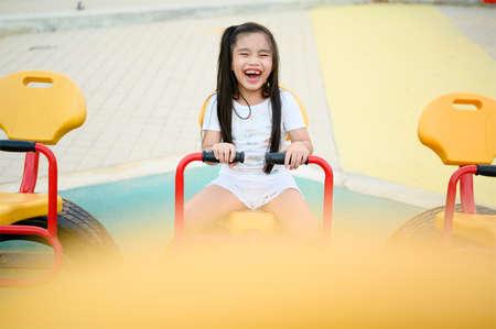 Child Playing having fun on playground