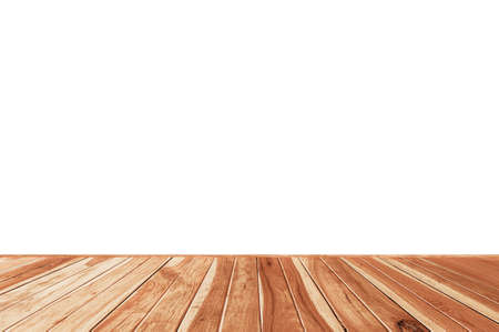 Abstract Natural on wood table isolated on white background, montage display your product 版權商用圖片