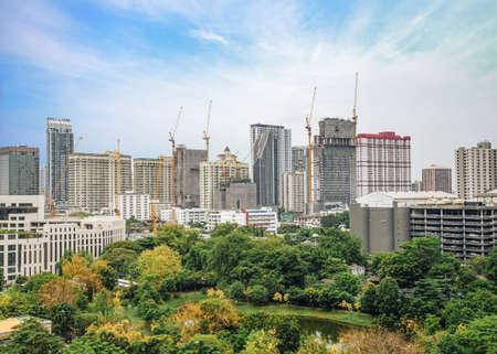 Bangkok city downtown skyline of Thailand Imagens