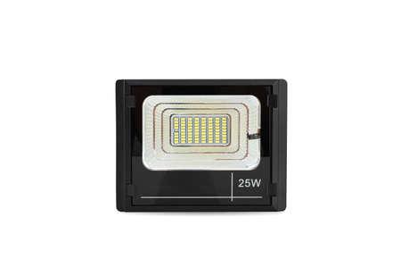 LED sport light for solar energy on white background.