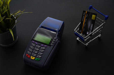Credit card payment, buy and sell products & service concept