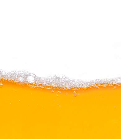 Beer bubbles background with realistic white foam Stockfoto