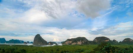 Phang Nga bay from sametnangshe view point ,Phangnga Thailand 版權商用圖片