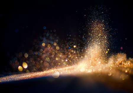 glitter vintage lights background. defocused Stock fotó