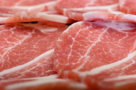 Fresh pork sliced for japanese hot pot. Shabu Shabu Pork slice