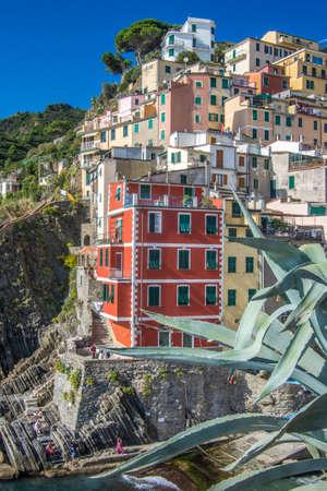 Riomaggiore, Liguria / Italy - September 24 2014: Riomaggiore, Cinque Terre, Liguria, Italy. Editorial