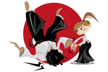 judo: El Aikido es un arte marcial japonés desarrollado por Morihei Ueshiba como una síntesis de sus estudios marciales, la filosofía y las creencias religiosas