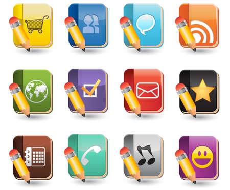 tweets: Social Media of Book Icon Set
