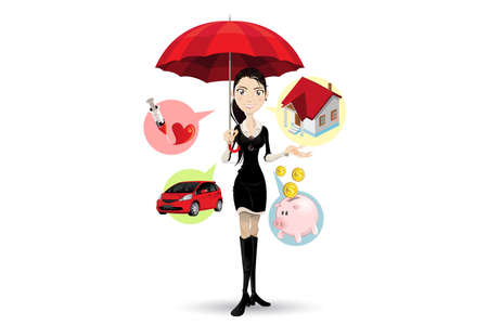 courtier: Confiant Customer Service Representative Expliquant la proc�dure d'assurance