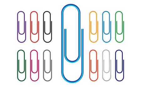 clipe de papel: Clipe de Papel Colorido Ilustra��o