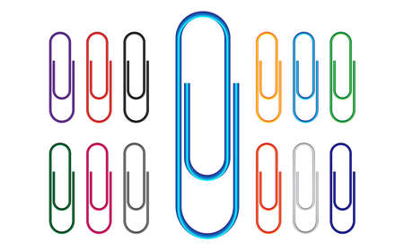 Paper Clip Multi Colored 版權商用圖片 - 15098232