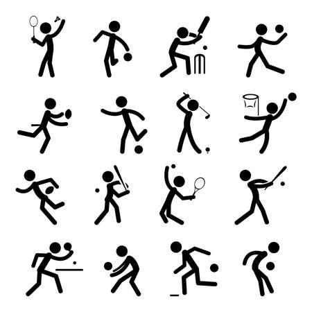スポーツの絵文字アイコンを設定  イラスト・ベクター素材