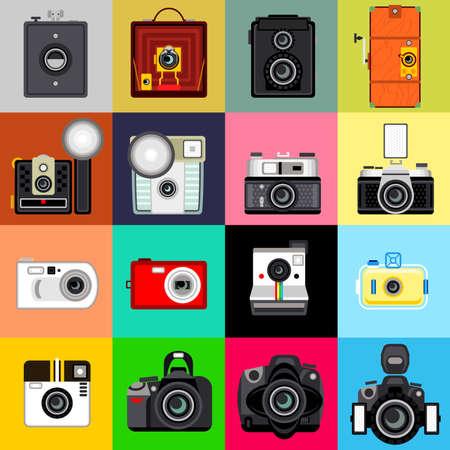 History of Camera Stock Vector - 15344822