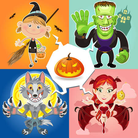 autum: Halloween Characters