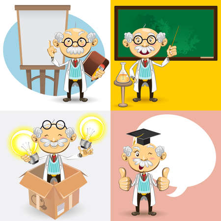 Professor Characters Stock Vector - 15680894