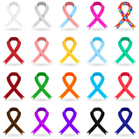 awareness ribbons: Awareness Ribbons Illustration