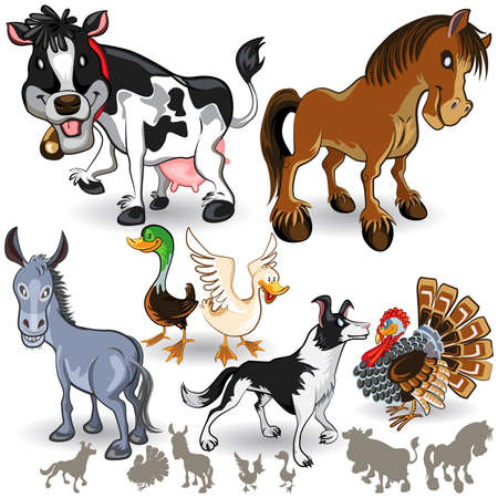 Farm Animals Collection Set 02 Иллюстрация