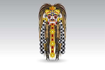 ランダ リーク伝統的なバリの悪魔のマスク 写真素材 - 17301105