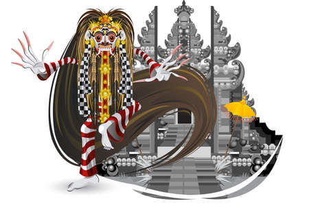 Balinese Leak Dancer Vector