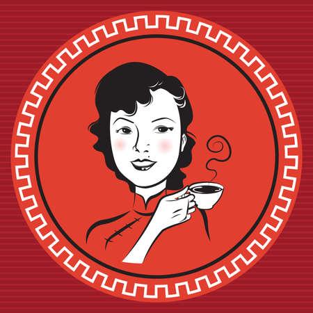 중국 Retro 사람