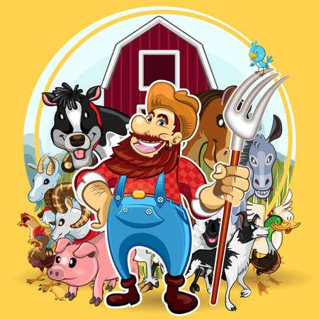 Farm Life 版權商用圖片 - 17338791