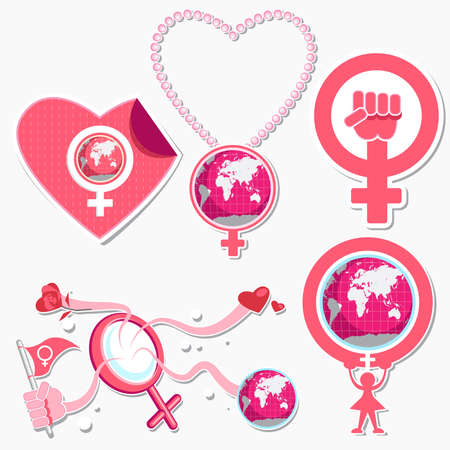 International Womans Day 8 March Symbol And Icon Illustration