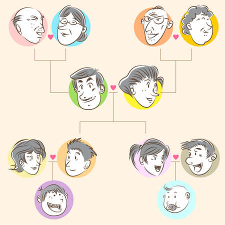 hierarchy: Family Tree Doodle Style