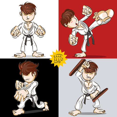 martial art: Martial Art Karate Illustration