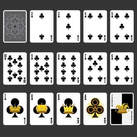 kartenspiel: Club Suit Spielkarten Full Set