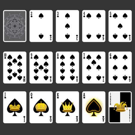 카드 풀 세트 플레이 스페이드 한 벌