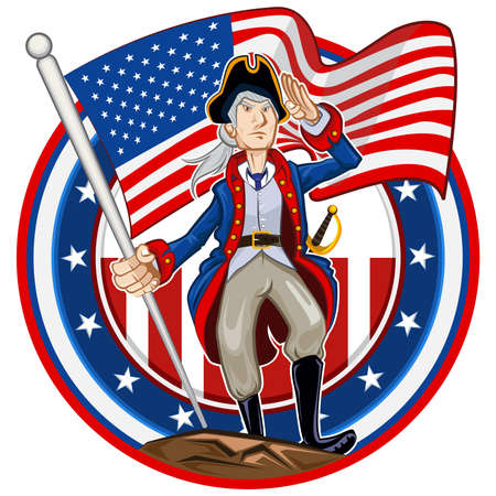 American Patriot Emblem Illustration