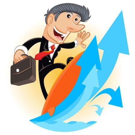 企業のはしごを登る  イラスト・ベクター素材