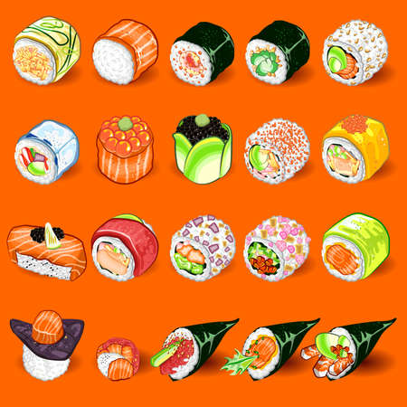 Japanese Sushi Collection Set