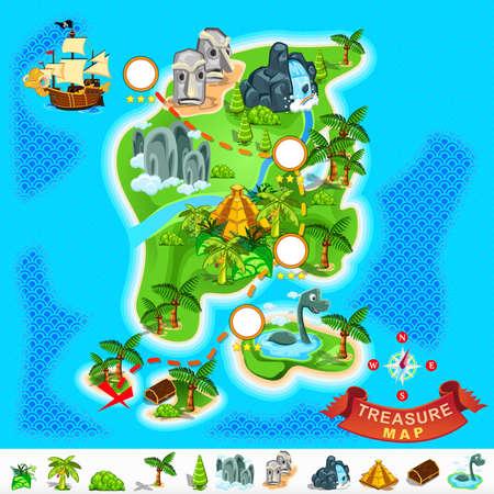 mapa del tesoro: Tesoro del pirata Mapa